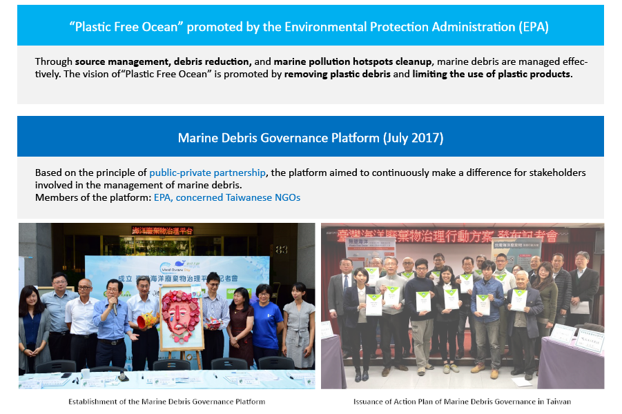 "Plastic Free Ocean"" promoted by the Environmental Protection Administration (EPA)"